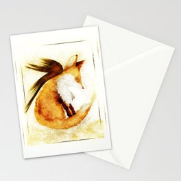 Winged Fox Sleeping Stationery Cards