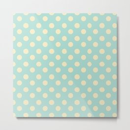 Dotted - Soft Blue Metal Print