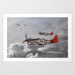 P51 Mustang - Tuskegee Airmen Art Print