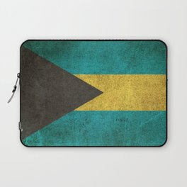 Old and Worn Distressed Vintage Flag of Bahamas Laptop Sleeve