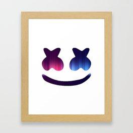 Marshmello Blue Rainbow Framed Art Print