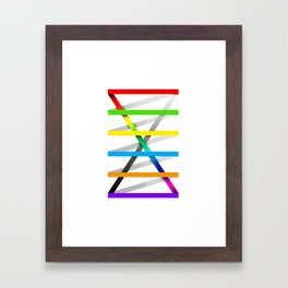 Color Experiment #1 Framed Art Print