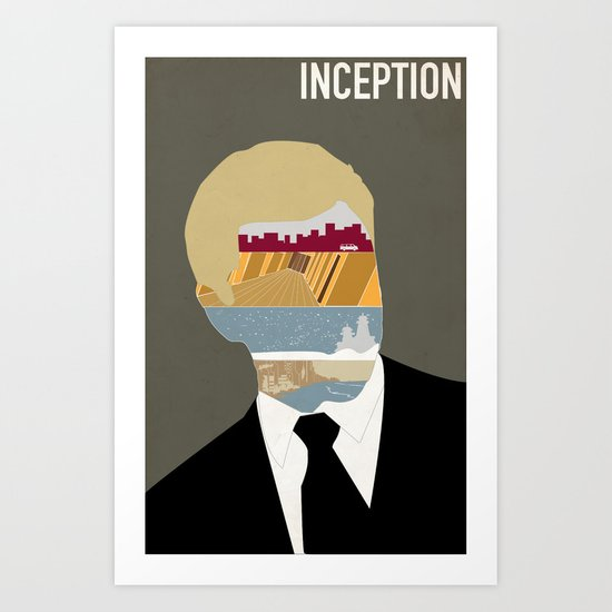 Inception minimalist poster Art Print