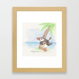 Puffin in Paradise Framed Art Print