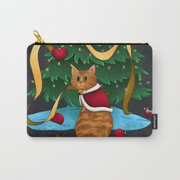 Guilty Christmas Kitty Carry-All Pouch