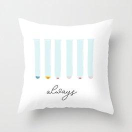 B Positive Always Throw Pillow