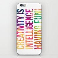 creativity iPhone & iPod Skins featuring Creativity  by DesignByDerek