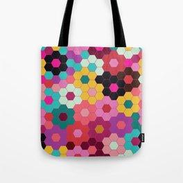 Honeycomb Blooms Tote Bag