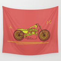 bike Wall Tapestries featuring Bike by Daniella Gallistl