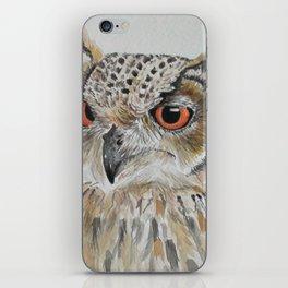 Owl,Watercolor Painting iPhone Skin