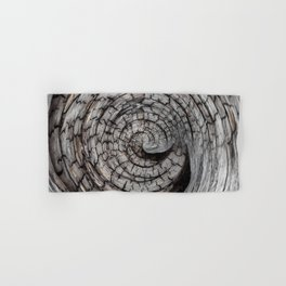 Spiralled Wood - Abstract Photography by Fluid Nature Hand & Bath Towel