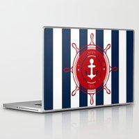 nautical Laptop & iPad Skins featuring Nautical by Katherine GM