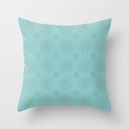 3D Texture Turquoise - Pointilism Pattern Throw Pillow