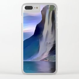 Minimalist Seven Sisters Waterfall Clear iPhone Case