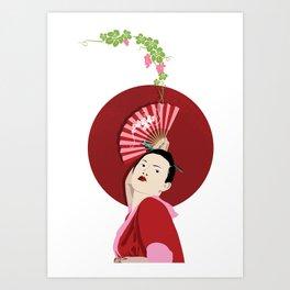 Japanese Wines Art Print