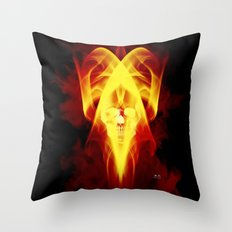 Face Of Death Throw Pillow