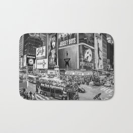Times Square II (B&W widescreen) Bath Mat