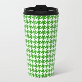 Friendly Houndstooth Pattern, green Travel Mug