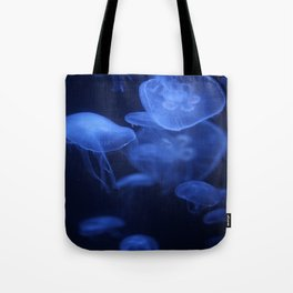 Jellyfish Glowing in Blacklight Photo Print 2 Tote Bag