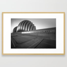 Kauffman Center for the Performing Arts - Kansas City - Black and White Edition Framed Art Print