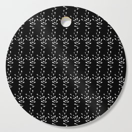 Black and White Sprig Pattern Cutting Board