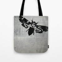 silence of the lambs Tote Bags featuring Silence of the Lambs by Kat Phelps