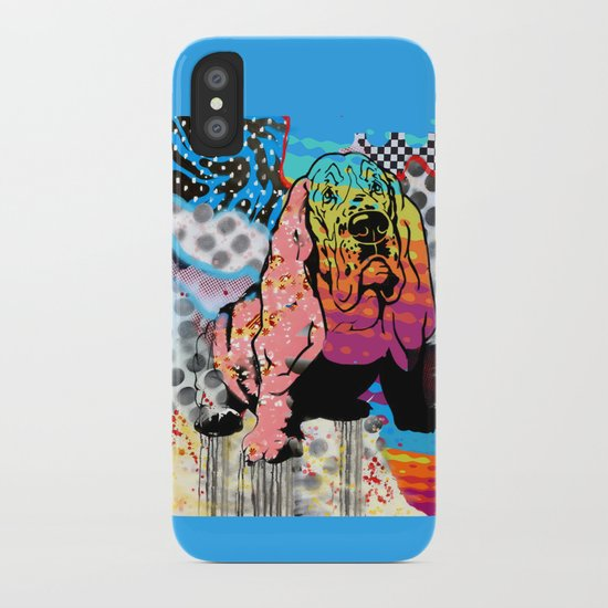 Basset pop art iPhone Case