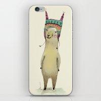 llama iPhone & iPod Skins featuring Llama by Paola Zakimi