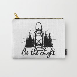 BE THE LIGHT lantern positive Christian simple quote  Carry-All Pouch