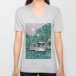 san francisco city skyline Unisex V-Neck