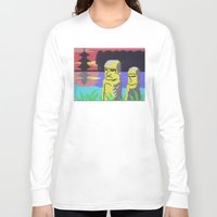 tiki Long Sleeve T-shirts featuring Tiki by Vaporware