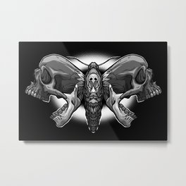 Death's Ahead - Grayscale Metal Print