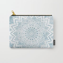 LIGHT BLUE MANDALA SAVANAH Carry-All Pouch