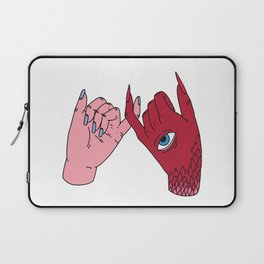 pinky swear friendship devil satan human friends Laptop Sleeve