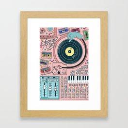 Strange City Poster Framed Art Print