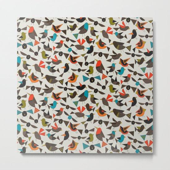 just birds china white Metal Print