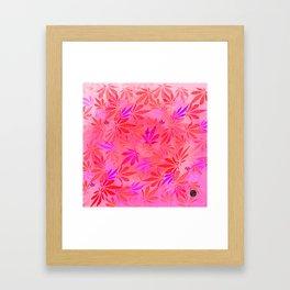 Blush Cannabis Swirl Framed Art Print