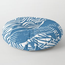 Japan Sea Whale Art Lino Floor Pillow