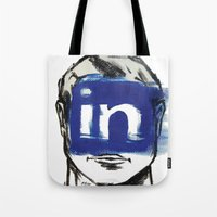 instagram Tote Bags featuring O'Prime instagram by O'Prime