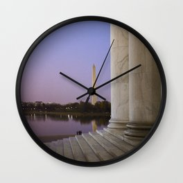 Washington DC at twilight Wall Clock