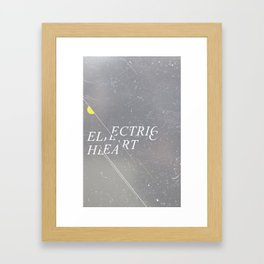 Electric Heart Framed Art Print