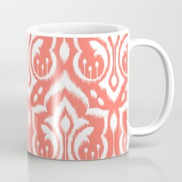 Ikat Damask Coral Coffee Mug