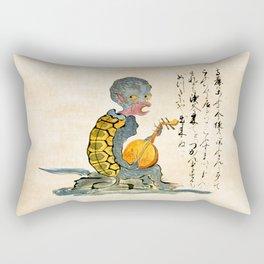 The Kappa - Kaikidan Ektoba Monster Scroll Rectangular Pillow