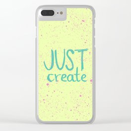 Motivation to be creative. Just create colorful lettering. Clear iPhone Case
