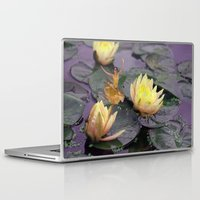 tinker bell Laptop & iPad Skins featuring tinker bell & tiger lilies by EnglishRose23