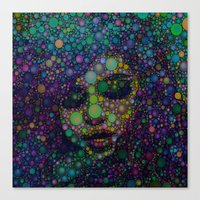 selena Canvas Prints featuring Beautiful Selena  by Amy Anderson