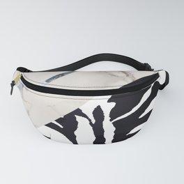 Zebra,marble texture design Fanny Pack