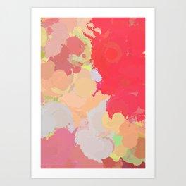 Red abstract splatter Art Print