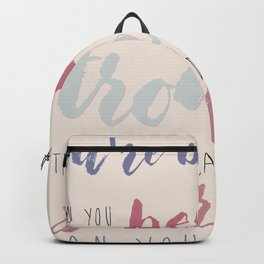 You are Braver #typography #inspirational Backpack