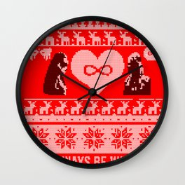Clexa Christmas Wall Clock